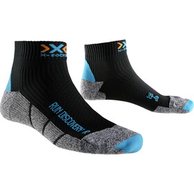 X-Socks Run Discovery New Calcetines Running Mujer, black/turquoise/grey mouliné